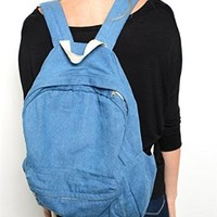 Shop the Trends Classic Denim School Backpack
