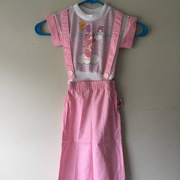 Vintage Care Bear 80s Two Piece Shirt and Pants Set