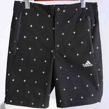 ADIDAS popular logo fashion men's casual shorts F-A-BM-YSHY black