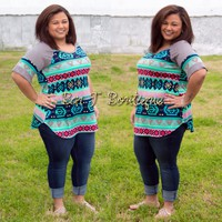 Sweet & Sassy Tribal Top