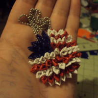 USA Flag Duct Tape Necklace