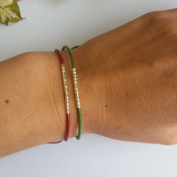 SISTER morse code. CUSTOM morse code. secret message bracelet morse code.sterling silver.silk.minimalist.dainty.colorful.initial.name