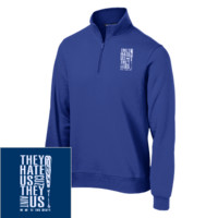 SPECIAL SALE FOR ROYAL FANS!!!  Quarter-Zip Embroidered Sweatshirt