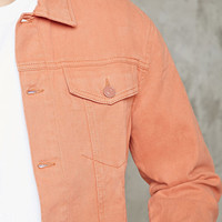 Enamel-Button Denim Jacket