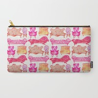 Victorian Lounge – Pink Palette Carry-All Pouch by Cat Coquillette