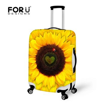 Covers for Suitcases Maple Cute Cat Animal Luggage Protective Dust Covers for 18-30 Inch Trolley Suitcase Elastic Luggage Cover