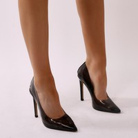 Extra Clear Perspex Court Heels in Smoke