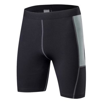 CALOFE Brand Quick Dry Shorts Men Running Fitness Gym Skinny Shorts Male Patchwork Shorts Knee Length Compression Shorts