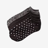 2 Pack Polka Dot Space Dye Ankle Socks