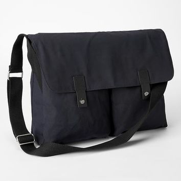 Gap Waxed Canvas Messenger Bag Size One Size