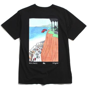Car Plunge Pocket T-Shirt Black