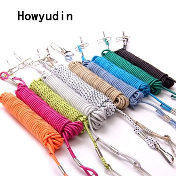 Howyudin 1Pcs 5m Retention Rope fishing accessories Elastic band fishing tools metal button Fish rod protection Prevent Rod Lose