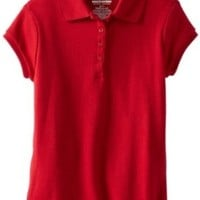 Nautica Big Girls'  Short-Sleeve Polo Shirt, Red, Medium