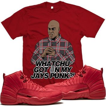 Jordan 12 Gym Red Sneaker Tees Shirt to Match - GOT ON MY JAYS