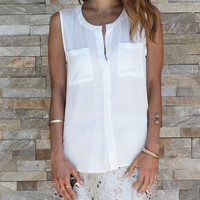 Pocket Button Down Tank