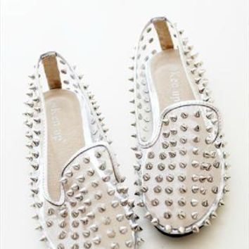 studded transperency flip flats shoes from mancphoebe