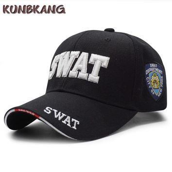 Trendy Winter Jacket New Men Tactical Baseball Cap SWAT Embroidery Letter Snapback Dad Hat Bone Male Summer Sports Army Sun Trucker Cap Black Gorras AT_92_12