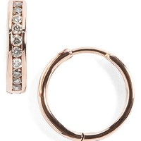 Women's Anna Sheffield 'Licol' Tiny Champagne Diamond Hoop Earrings - Rose Champagne