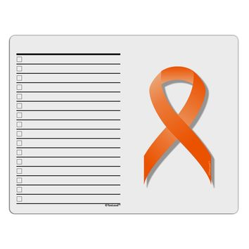Leukemia Awareness Ribbon - Orange To Do Shopping List Dry Erase Board