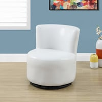 Juvenile Chair - Swivel / White Leather-Look