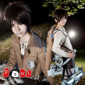 DCCKHY9 Attack on Titan Eren Jaeger Cosplay Costume Shingeki no Kyojin Halloween Costumes for Women/Men Full Set