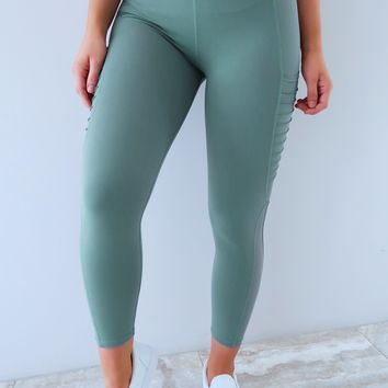 Leg Day Pants: Dusty Green