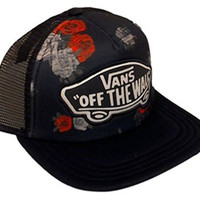 Vans Shoes Off The Wall Women's Beach Girl Trucker Snapback Hat Cap - Roses