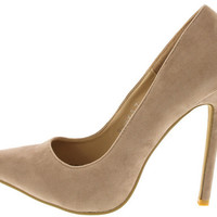 RICKY5 NUDE SINGLE SOLE POINTED TOE HEEL