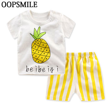 Baby Boy Clothing Set Summer New Baby Boy  infant Clothing Cotton Girls Clothing Cartoon Newborn Baby Clothes tshirt+short Pants