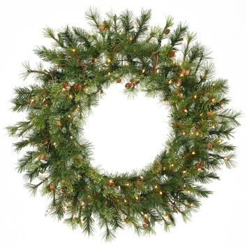 "Prelit Mixed Country Wreath 100CL (36"")"