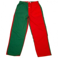 Sleeper Pants in Red and Green Panels by Castaway Clothing