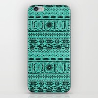 Turquoise Tribal Pattern iPhone & iPod Skin by Noonday Design | Society6