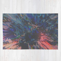 Glitch Wave Rug by duckyb