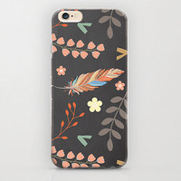 Bohemia Aztec Feather Floral Print iPhone 6 Case and Apple iPhone Covers with Unique Prints and Patterns Best iPhone 6 Case Coolest Covers
