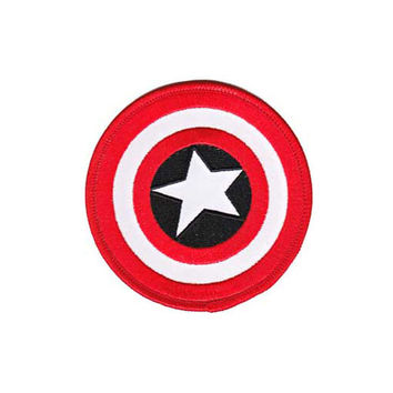 Captain America Shield Embroidered Iron-On Patch
