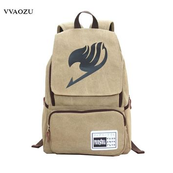 Hot Selling Japan Cartoon Casual Backpack Fairy Tail Cosplay Preppy Style School Bag Canvas Travel Backpacks Free Shopping
