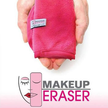 4 Colors Magic Makeup Eraser Skin-friendly Flannel Magic Make up Remover Towel professional Makeup Cleaning tool remove with water red [8833917196]