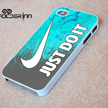Cyan nike Just Do It iPhone 4s iphone 5 iphone 5s iphone 6 case, Samsung s3 samsung s4 samsung s5 note 3 note 4 case, iPod 4 5 Case