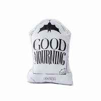 PRE ORDER Good Mourning - Grey Edition- Handmade Plush Throw Pillow - Horror Inspired Home Decor