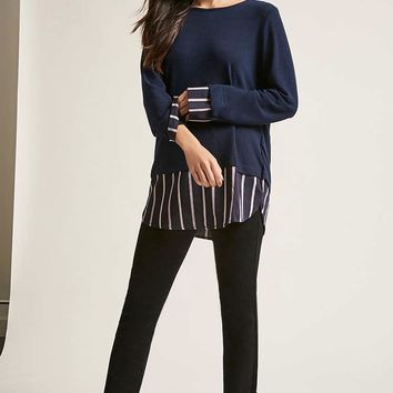 Boxy Stripe-Panel Top