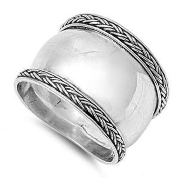 Bali Jewelry 925 Sterling Silver Oxidized Antique Finish Bali Design Ring