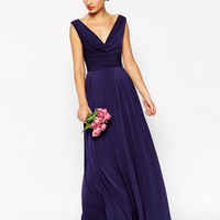 ASOS TALL WEDDING Cowl Neck Maxi Dress at asos.com