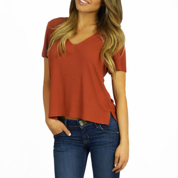 MinkPink Wild And Free V-Neck Tee