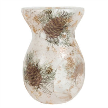 Village Candle Pine Cone Glass Wax Melt Warmer
