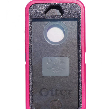 OtterBox Defender Series Case iPhone 5/5s Glitter Cute Sparkly Bling Defender Series Custom Case Pink/ Graphite