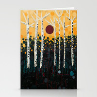 :: Red Moon Love Song :: Stationery Cards by :: GaleStorm Artworks ::