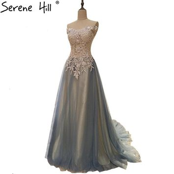 Grey Sleeveless Tulle Sexy Bridesmaid Dresses Sequined Beading High Collar Party Dress