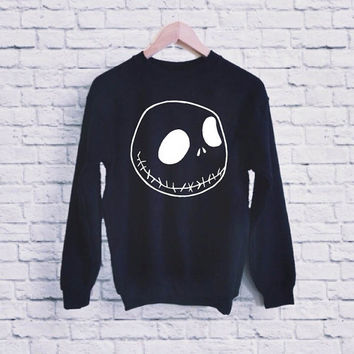 Jack Skellington Nightmare Before Christmas UNISEX SWEATSHIRT heppy fit & sizing