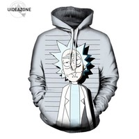 UIDEAZONE 2017 New Rick and Morty Pullover Hoodie Funny Mugshot Artwork Best Festival Clothing Sublimation Printed Plus Size 3XL