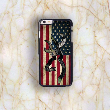 Dream colorful Dream colorful Browning Deer Camo American Flag Plastic Phone Case For iPhone iPhone